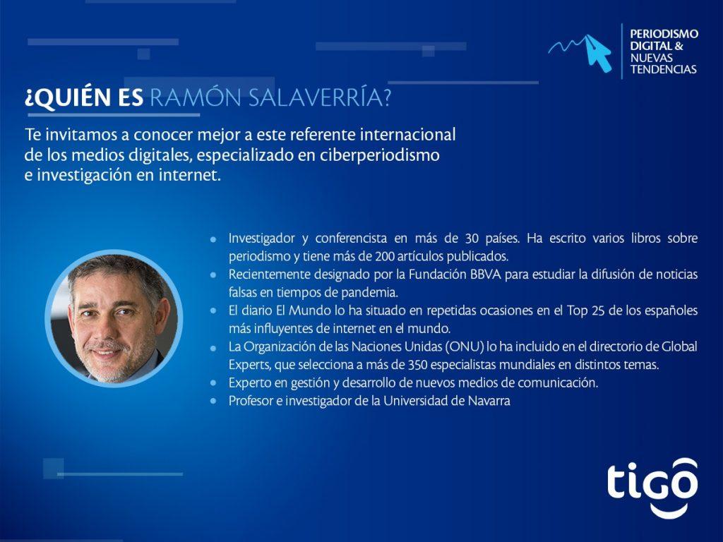 Ramón Salavarría, disertante internacional del Webinar ofrecido por tigo